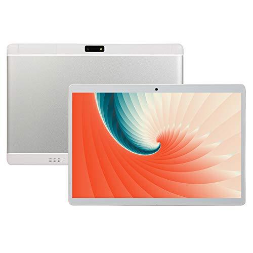 ELLENS Tableta Android de 10 Pulgadas, Tableta 3G desbloqueada con Ranuras para Tarjetas SIM Dobles, ROM de 1GB RAM 16GB, Quad Core, WiFi, Bluetooth, GPS