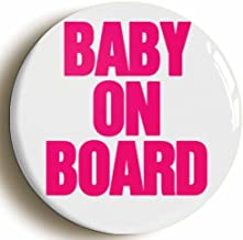 Baby On Board Cute Mom To Be Pregnancy Button Pin (Size 1inch Diameter)