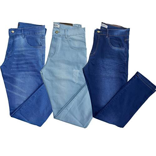 Calça Masculina Skinny Jeans (MÉDIA CLARA ESCURA, 42)