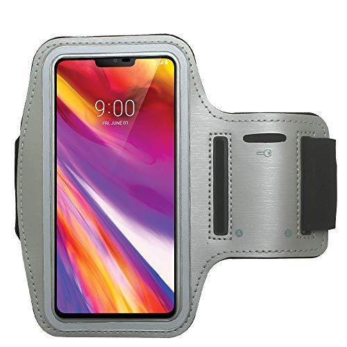 CBUS - Brazalete Deportivo para Footing, Jogging, Correr y Entrenar. Compatible con Samsung Galaxy S9+/S20+/S20/S10+/S10 Lite/Note 20/Note 10/M31/M21/M20/A31/A31s/A10 (Gris)