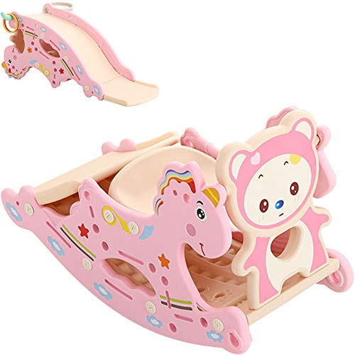 Find Bargain TINTON LIFE 3 in 1 Unicorn Rocking Horse and Slide Set for Toddlers Kids Combination of...