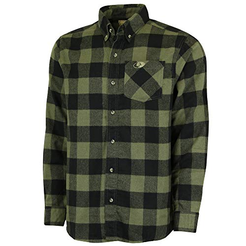 Mossy Oak Flannel Shirt for Men, Buffalo Plaid Long Sleeve Mens Flannel Shirts, Soft Flannels for Men, a Traditional Look with New Age Comfort, XX-Large (97221)