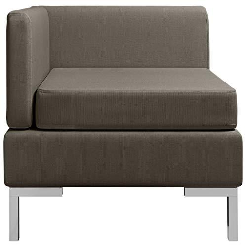 pedkit Ecksofa Modular mit Auflage Sofa Einzelsofa Polstersofa Loungesofa Stoffsofa Sitzmöbel Stoff Taupe 65x65x65cm