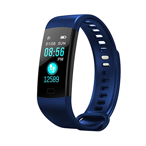 ZGYYDY Braccialetto Sportivo intelligente2019 Hot Smart Watch Blood Pressure Heart Rate Monitor Fitness Tracker Sports Bracelet Ip67 Smartwatch Connect iPhone Android,Blue