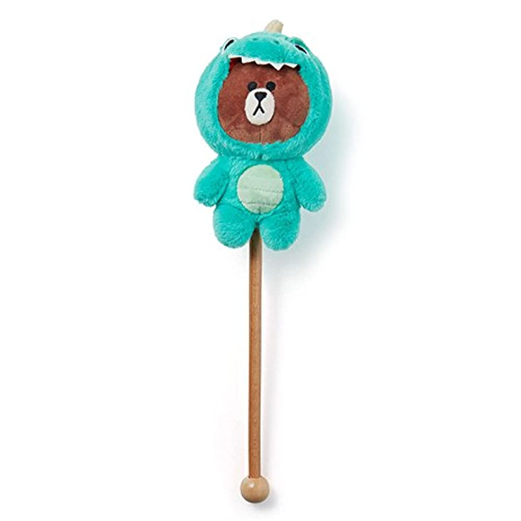 LINE FRIENDS JUNGLE BROWN 肩たたき棒 ダイノブラウン
