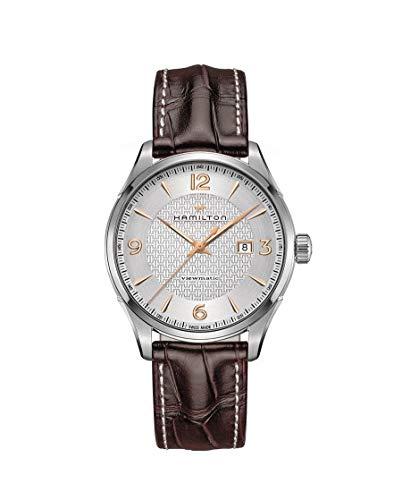 Hamilton Jazzmaster Hombre Reloj de Pulsera 44mm Pulsera Piel marrón gehãƒâ ¤ Use Acero Inoxidable automático h32755551