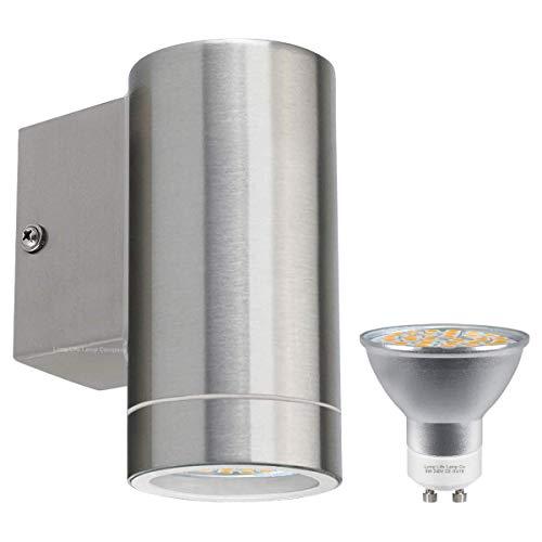Long Life Lamp Company Lampada da Parete a LED in Acciaio Inox per Esterni, IP65, 5 W, 400 Lumen, LED a Risparmio energetico