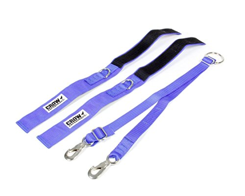 Crow Enterprises Adult 2 Inch Blue Safety Arm Restraints Clips Into Standard Quick Release Belt