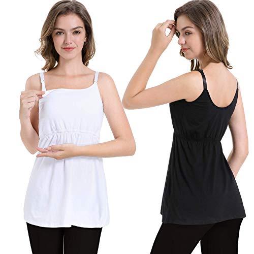 ZUMIY Canottiera Allattamento, Top Allattamento al Seno Comfy Gravidanza Abiti Premaman T-Shirt