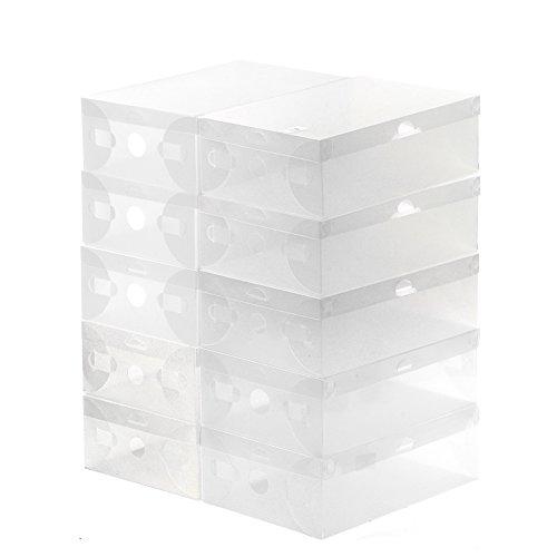 ABBY -J Bciou 10 unidades organizador de zapatos plegable caja de plástico