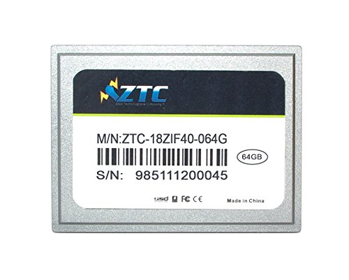 ZTC 64GB Zyklon 40-polige ZIF 1,8 Zoll PATA SSD verbessert Solid-State-Laufwerk - ZTC-18ZIF40-064G