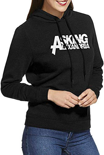 Asking Alexandria Womens Long-Sleeve Lightweight Hoodie Shirt Sweatshirt Rundhalsausschnitt