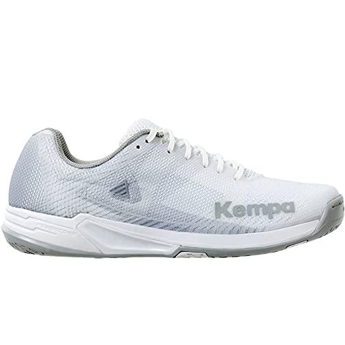 Kempa Damen Wing 2.0 Women Handballschuh, Weiß Grau, 41 EU