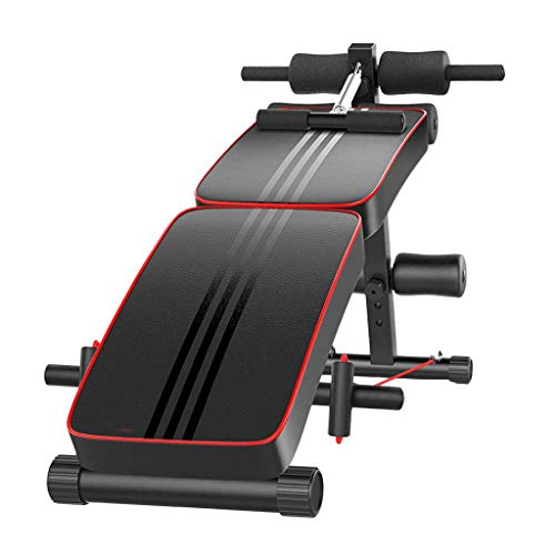 Mmm@ Sit-Up Board Home Dispositivo per l'allenamento dei Muscoli Addominali Banco Multifunzione con manubri Palestra Attrezzatura per Il Fitness Professionale Regolabile in Altezza Doppia Piegatura