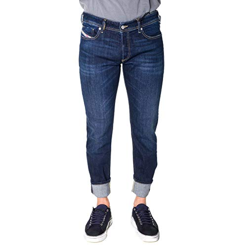 Luxury Fashion | Diesel Heren 00SWJE083AW01 Donkerblauw Elasthaan Jeans | Seizoen Outlet