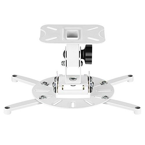 SIMBR Universal Beamer Projektor Deckenhalterung Beamer halterung decke für drehbar 360° Neigbar +/-30°max. Belastung 15kg