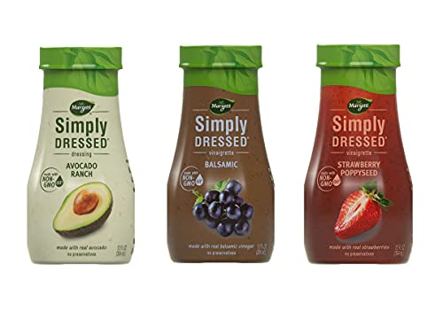 Salad Dressing by Marzetti Variety Pack | Avocado Ranch, Balsamic, Strawberry Poppyseed | 3 Pack