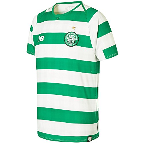 New Balance Youth Celtic Football Home Junior Jersey, White/Celtic Green, LB