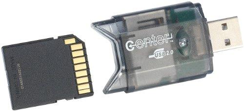 c-enter SD Kartenleser: USB-2.0-Cardreader & USB-Stick, für SD(HC/XC)-Karten (SD Kartenleser USB)