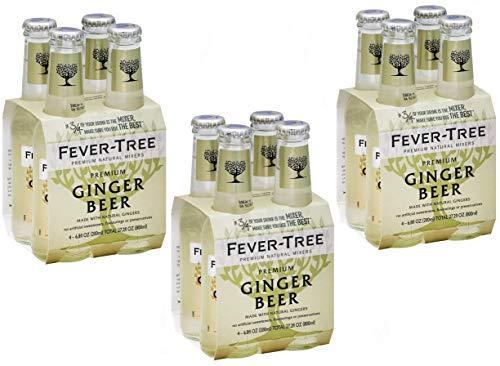Sicilia Bedda - Ginger Beer Fever Tree - Prodotto con 3 Tipi di Zenzero - Bevanda Unica - Formato 200 Ml x 12 Bottiglie