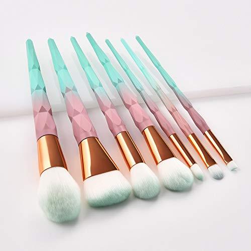 LS Maquillage diamant professionnelle Pinceaux Fondation Blending Ombres à paupières Contour fard à joues brosse cosmétiques Beauté maquillage Outils (Color : Silver)