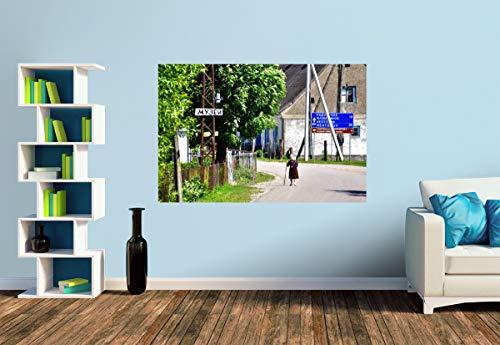 Premium Foto-Tapete Dorfstraße in Groß Rominten/Krasnolessje (versch. Größen) (Size S   186 x 124 cm) Design-Tapete, Wand-Tapete, Wand-Dekoration, Photo-Tapete, Markenqualität von ERFURT