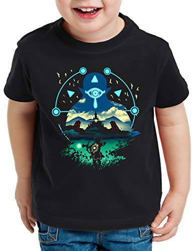 A.N.T. Sheikah Hunter T-Shirt für Kinder wild Switch The Breath of SNES Zelda Ocarina link, Größe:128