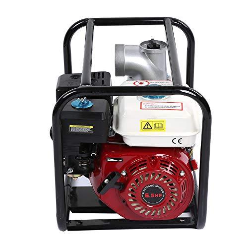Benzin Wasserpumpe, Benzin Wasserpumpe, 3-Zoll Benzin-Wassertransferpumpe, 6,5 PS 7m Gartenbewässerung Schwimmbad-Reinigungspumpe
