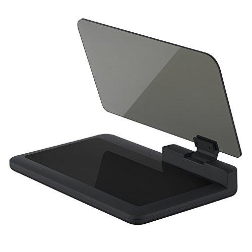 KKmoon Coche Head Up Display, GPS Navegador HUD con Panel de reflexión, Gran Pantalla HD Proyector de Compatible con Smartphone Android iOS MAX 6 Pulgadas