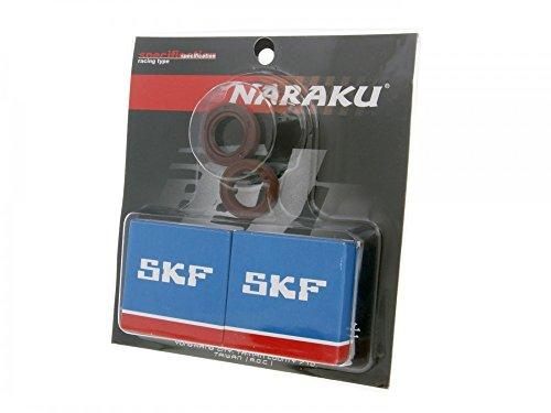 Kurbelwellenlager Satz Naraku SKF Metallkäfig für Gilera Runner 50 SP Vergaser 05- ZAPC461