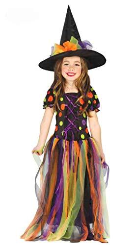 Disfraz de Brujita lunares largo para niñas