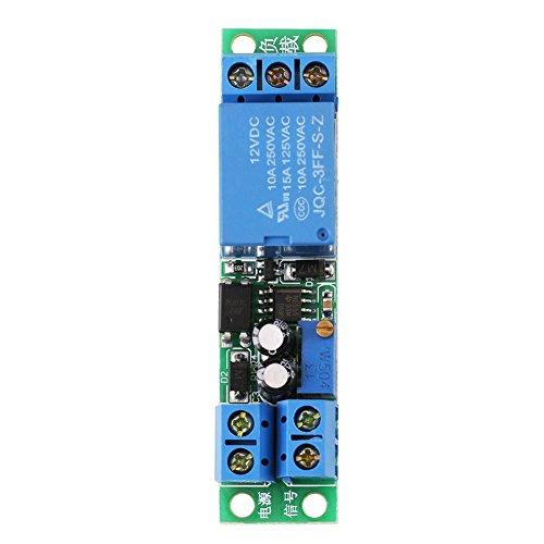 Modulo Relè Interruttore di Ritardo 12V, Relè Modulo Temporizzato 0-25 Secondi di Accensione/Spegnimento con Isolatore Optoaccoppiatore