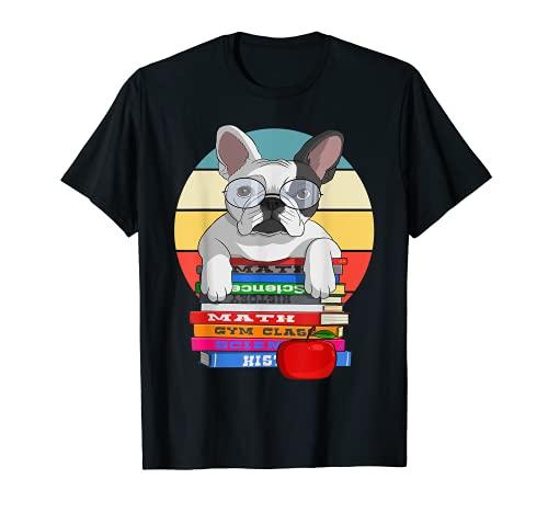 French Bulldog Back To School Bookworm Dog T-Shirt