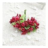 Heinside No se desvanezca 10 Piezas de la Guirnalda de Material de Bricolaje de simulación Bouquet Flor Material Núcleo del oído Decoración de la Flor en el Pecho Encantador (Color : Red)