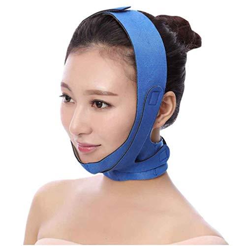 V Face Line Ceinture Menton Cheek Fin Lift Up Anti-Rides Masque Ultra Fine Sangle Band V Face Line Ceinture Sangle Band-Red Respirant (Color : Blue)