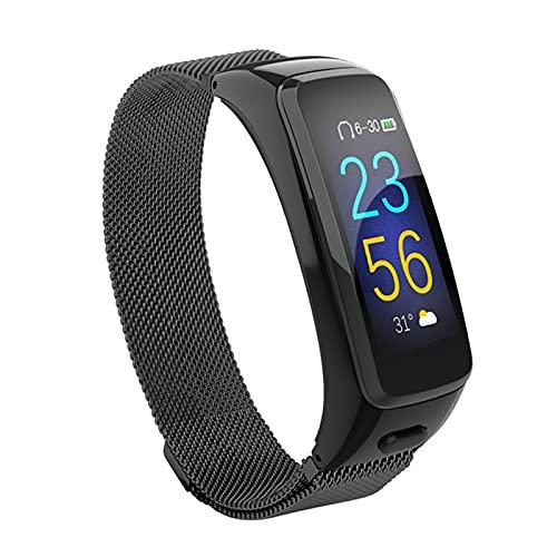 BY51 Pulsera Inteligente Auriculares Bluetooth Combo Llamada para Llamar A 7 Niveles Paso A Prueba De Agua Pasómetro Pulsómetro Cardíaco Smart Wristb,C