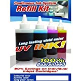 CIS Refill UV(Ultra Violet) Resistant ink Kit with 4 Colors for Epson Stylus C68 C88 Continuous Ink System (Related...