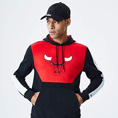 New Era NBA Colour Block Hoody Chibul FDR Sweatshirt, Schwarz, M