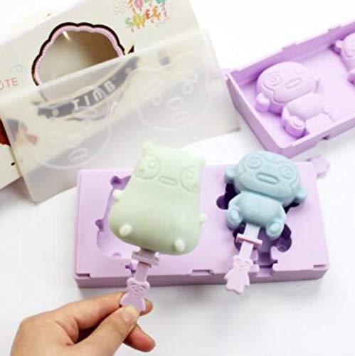 CTOBB 10 Art DIY Silikon-Eiscreme-Form-EIS am Stiel EIS am Stiel Moulds Maker Halter Gefrorenes EIS-Form mit Eisstielen Deckeln Küche Werkzeug, 10