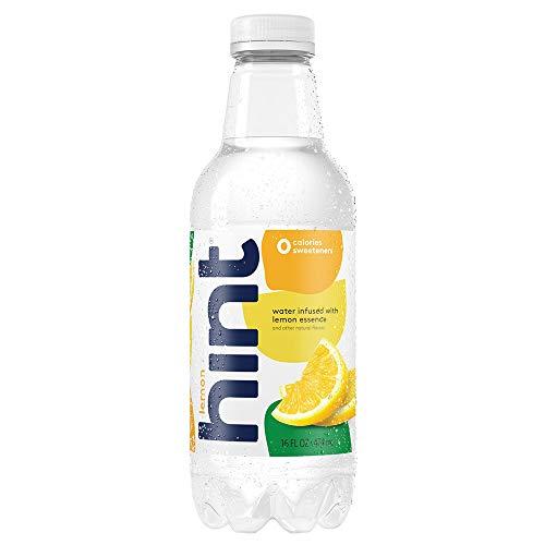 Hint Water Lemon (Pack of 12) 16 Ounce Bottles Pure Water Infused with Lemon Zero Sugar Zero Calories Zero Sweeteners Zero Preservatives Zero Artificial Flavors