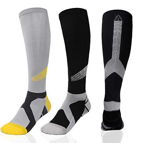 Men & Women Knee High Compression Socks 20-30mmHg Circulation for Running Cycling