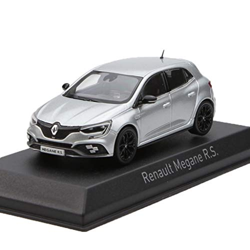 RONGRONG 1:43 Escala Coches/Compatible con Renault Megane R.S/aleación Modelo de Coche for Adultos Y Muchacha Regalo de cumpleaños (Color : Silver)