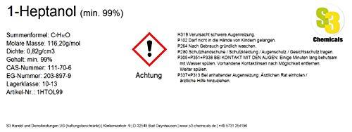 S3 Chemicals 1-Heptanol (min. 99%) Gebindegröße 1 Liter