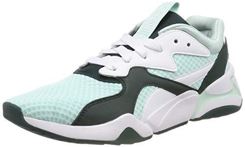 PUMA Damen Nova 90's Bloc WN's Sneaker, Blau (Fair Aqua-Ponderosa Pine), 38 EU