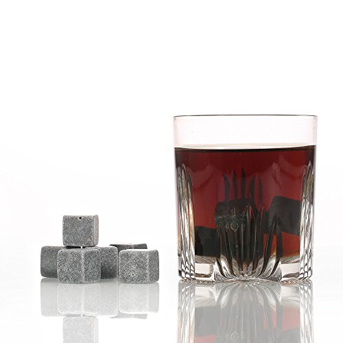 Anself 9er Set Whiskey-Steine aus natürlichem Speckstein - 2