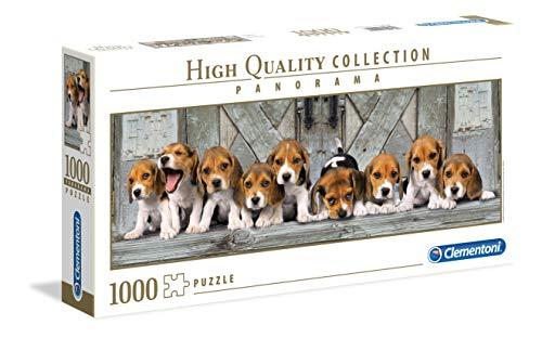 Clementoni 39435 Beagles – Puzzle 1000 Teile, Panorama High Quality Collection, Geschicklichkeitsspiel für die ganze Familie, Erwachsenenpuzzle ab 14 Jahren