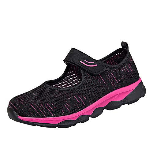 [Kanouhope] 安全靴レディース ナースシューズ 婦人靴 ママシューズ お年寄りシューズ 上履き 上靴 大人 介護靴 介護 シューズ 中高齢者靴 普段履き レディーススニーカー 26.0 ブラック 黒42