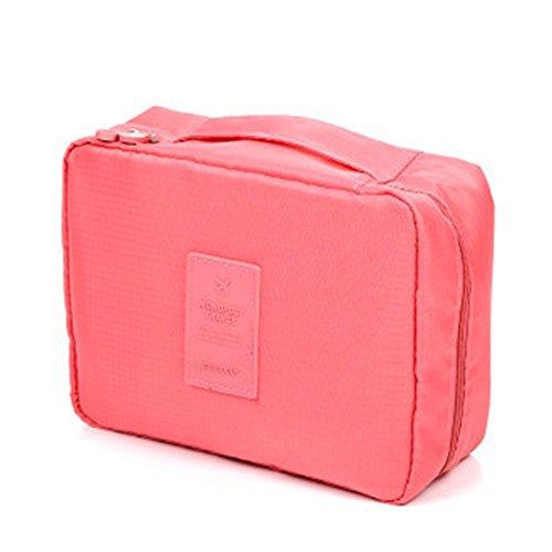 Lumanuby Neceser impermeable de la marca Ideal para Viajes,Tamaño: 21x16x7cm,Rosa