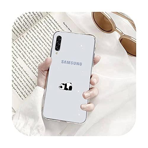 Panda lindo dibujos animados Teléfono Carcasas Transparente para Samsung A71 S9 10 20 HUAWEI p30 40 honor 10i 8x xiaomi note 8 Pro 10t 11-a2-xiaomi mi 11
