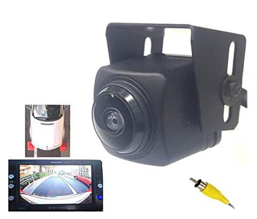 フロントカメラ 広角230度 SONYCCD 汎用ほとんどの社外ナビ対応RCA出力 真横みえます。